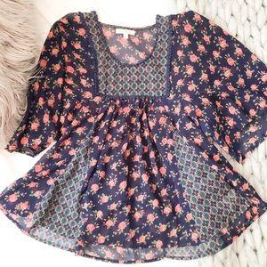 Nordstrom Floral Sheer Shirt